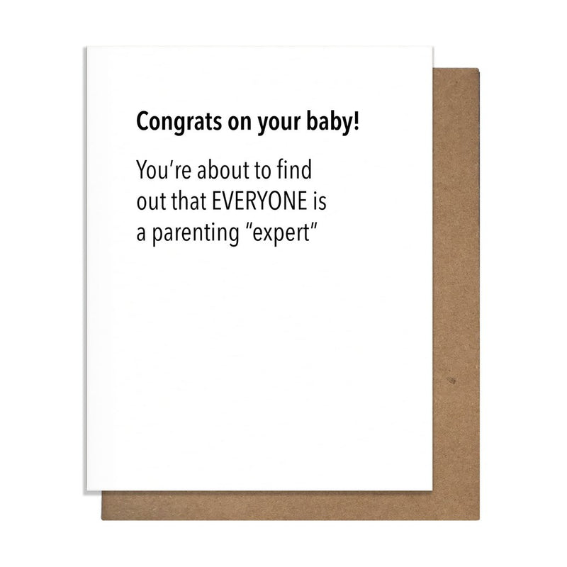 Parenting Expert Greeting Card