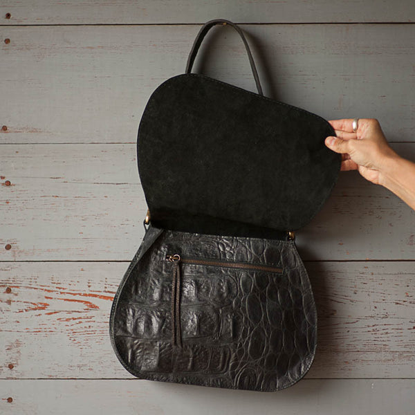 The Nash Bag | Black Gator - Stash Co