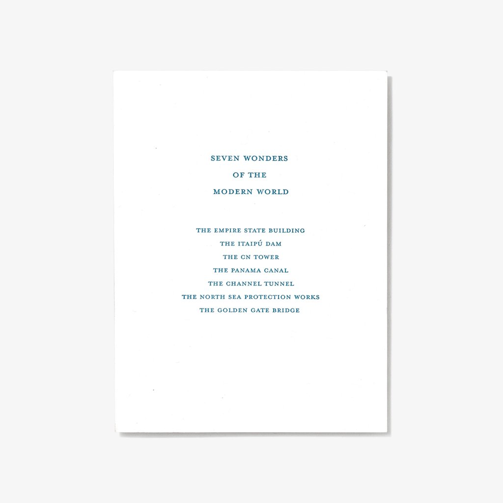 Modern Wonders | Letterpress Card
