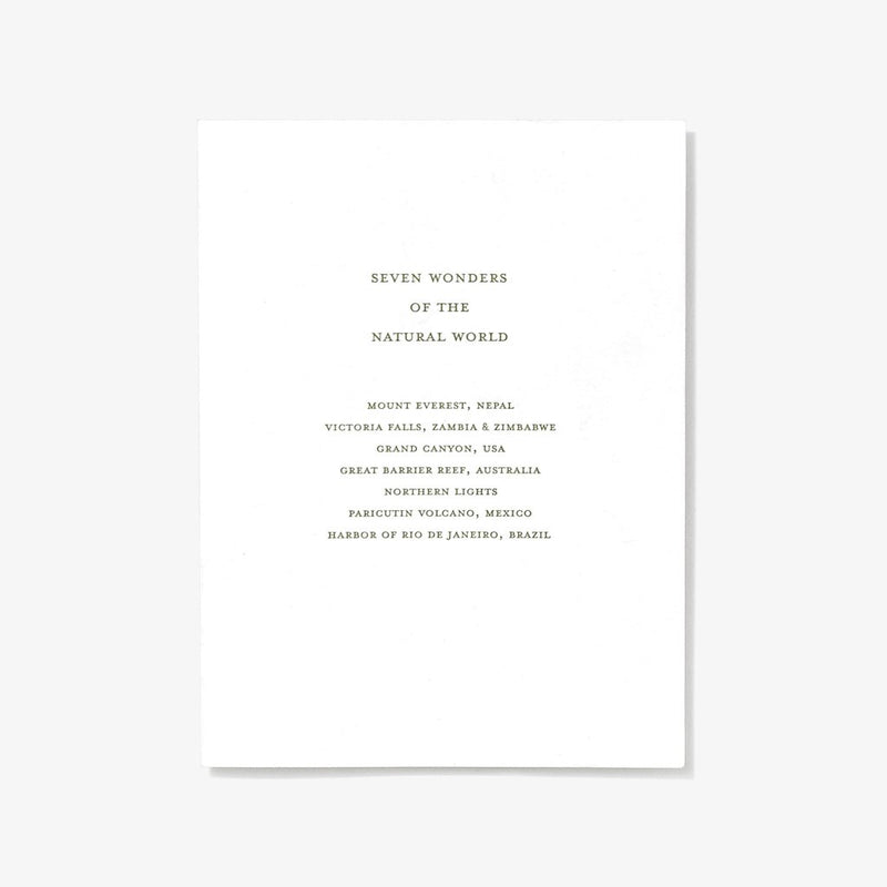 Natural Wonders | Letterpress Card