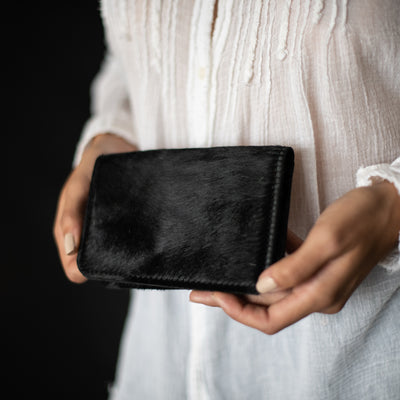 Passport Wallet | Midnight Hair Hide