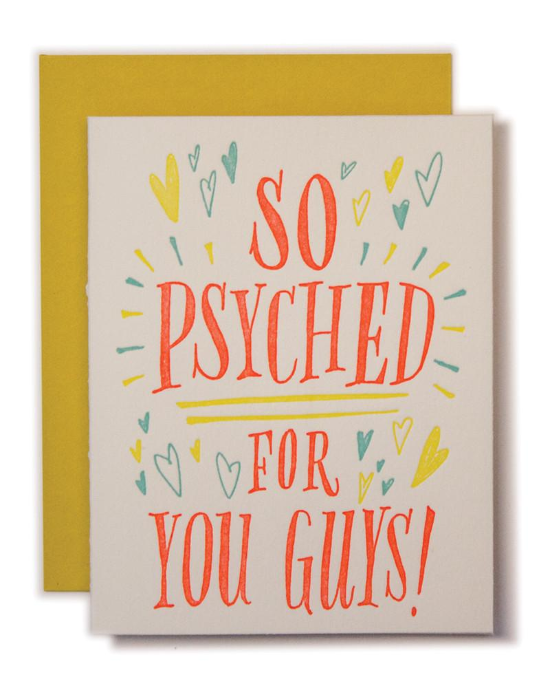 So Psyched for you Guys Card Greeting Card Ladyfingers - Stash Co