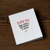 I Love You - No Money Card