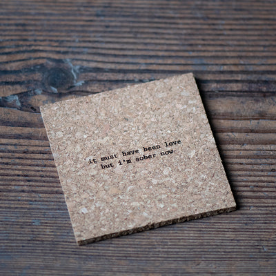Mistaken Lyrics Coaster - It Must Have Been Love