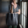 Transit Tote | Gunmetal Hair Hide