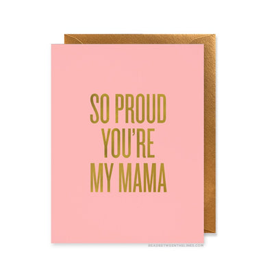 Proud Mama Greeting Card Greeting Card Read Between The Lines - Stash Co