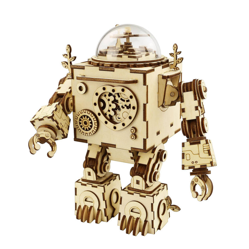 Steam Punk DIY 3D Wooden Puzzle Music Box: Orpheus