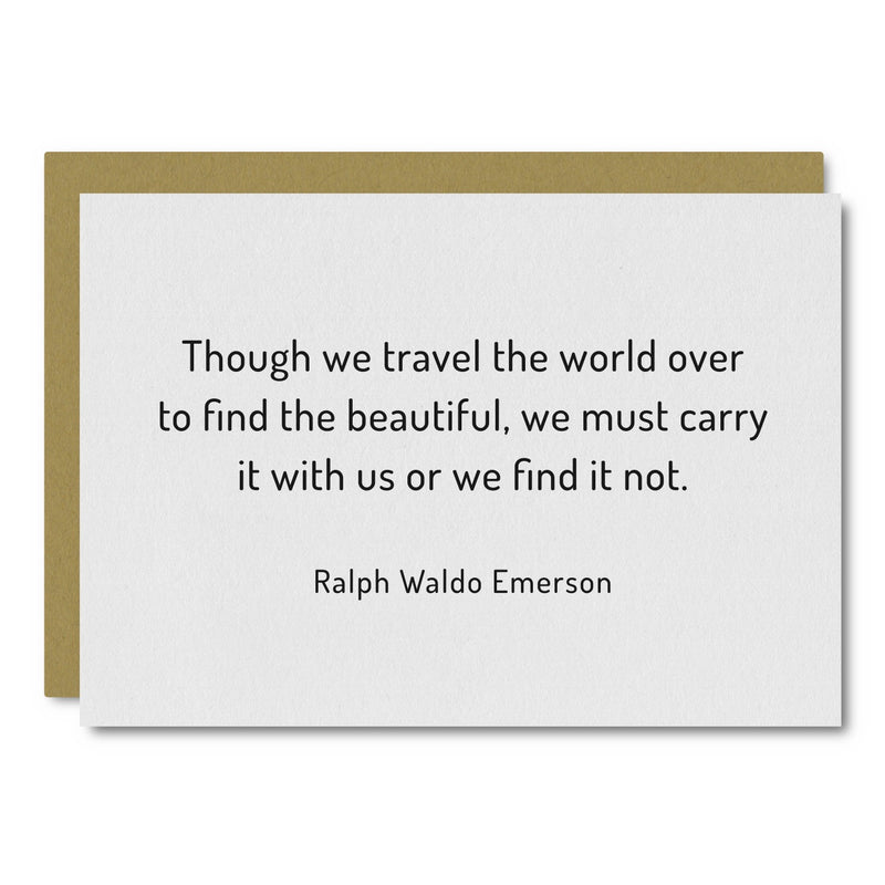 Ralph Waldo Emerson (Travel) Card
