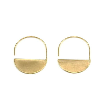 Material Wit - Half Moon Earrings