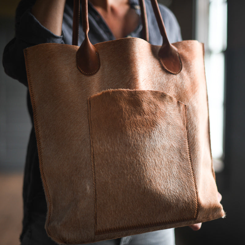 Transit Tote | Cinnamon Hair Hide