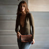Baguette Crossbody | Cognac Bison Baguette Crossbody Stash - Stash Co