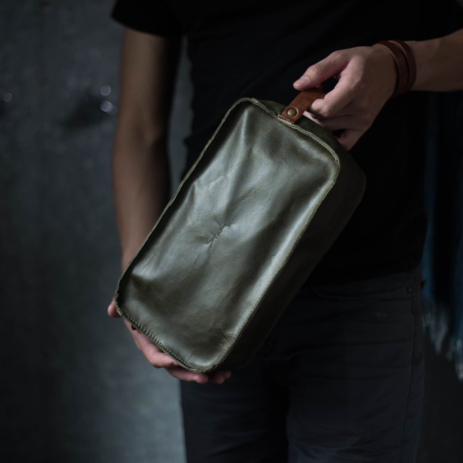 Dopp Kit | Olive Dopp Kit Stash - Stash Co