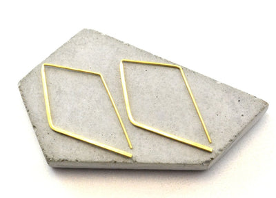 Material Wit - Minimalist Angled Earrings