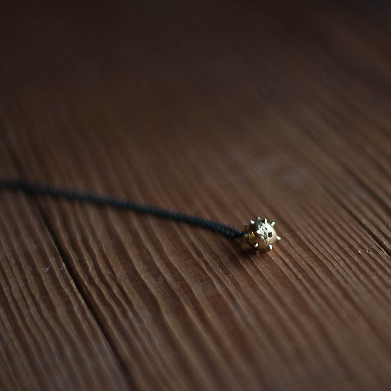 Small Spike Necklace | Black Chain Necklace Ester Gamez - Stash Co