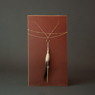 Ermine Bullet Necklace Necklace Ester Gamez - Stash Co