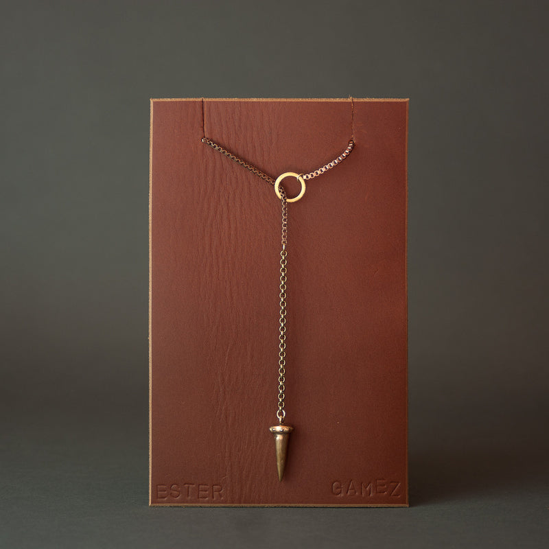 Spike Lariat | Short Necklace Ester Gamez - Stash Co