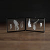Accordion Feather Frame | Guinea Hen Feathers - Stash Co