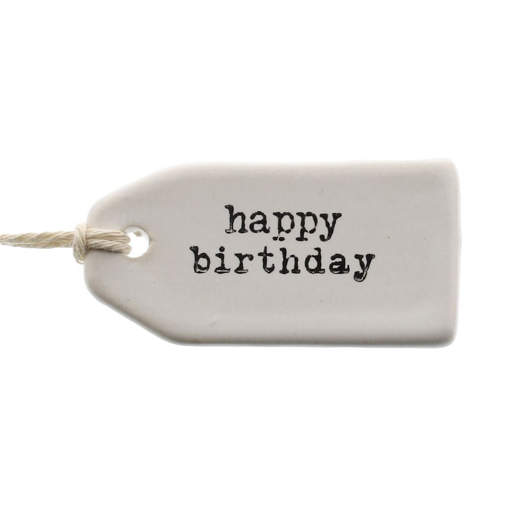 Happy Birthday | Ceramic Tag