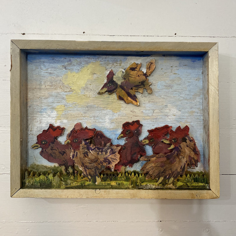 Chicken Shadow Box by Chicken George