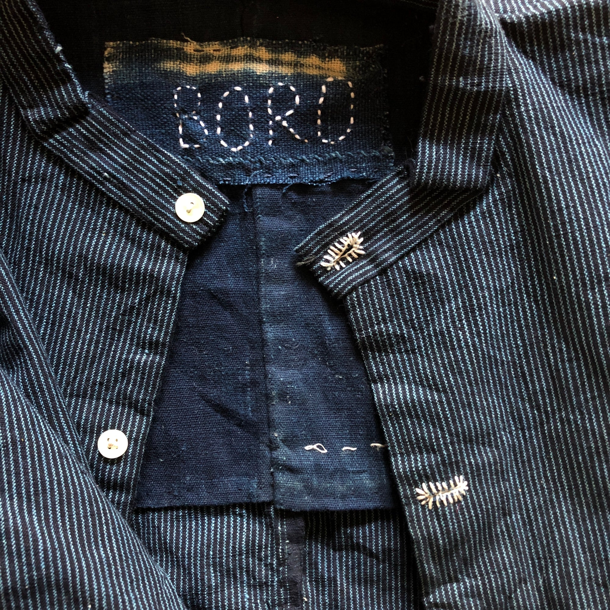 Antique Japanese Indigo Shirt Apparel Boro - Stash Co