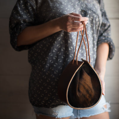 Joi Bag | Brown Brindle Hair Hide
