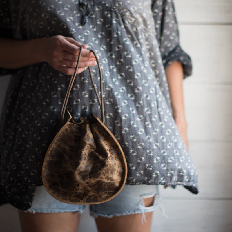 Joi Bag | Distressed Espresso Leather