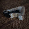 Medium Petrified Wood Dish | Black + Tan