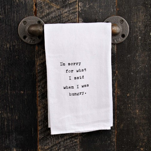 Quotable Linen | I'm sorry for what Linen Second Nature - Stash Co