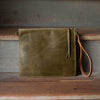 Modernist Wallet LG + Convertible Strap | Olive - Stash Co