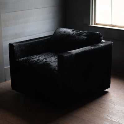 Knoll Pfister Chair | Black Hair Hide Chair Mod - Stash Co