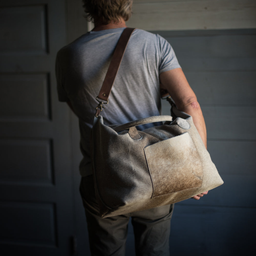 Transit Duffle | Dover Hair Hide