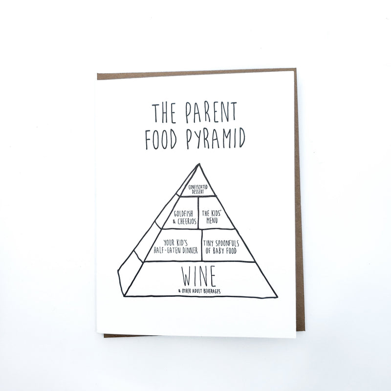 Parent Food Pyramid Greeting Card