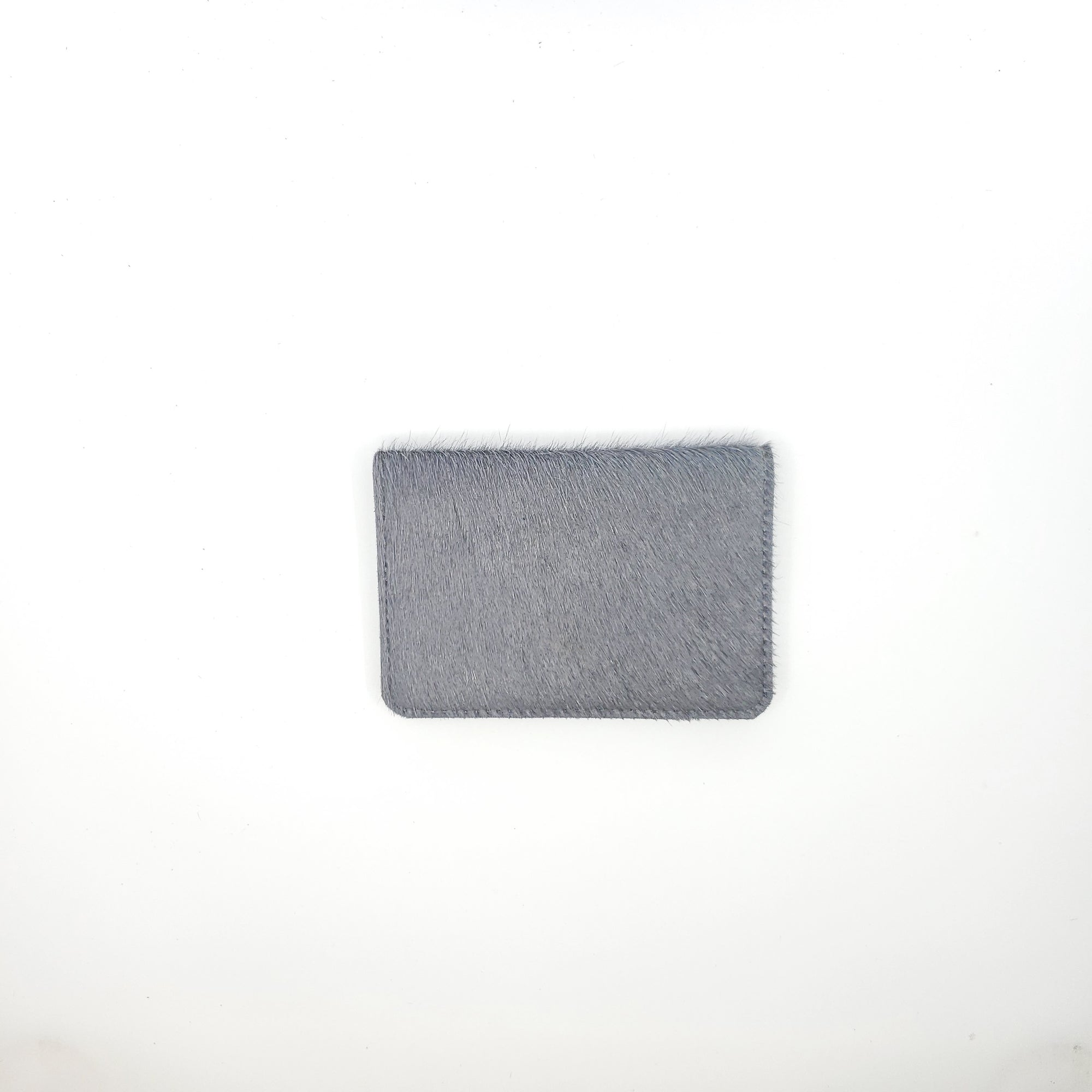 Passport Wallet | Gunmetal Hair Hide
