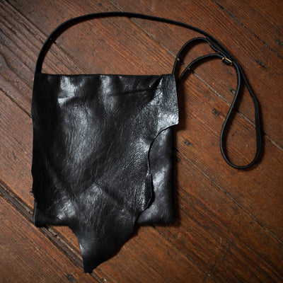 Crossbody | Shiny Black Goat