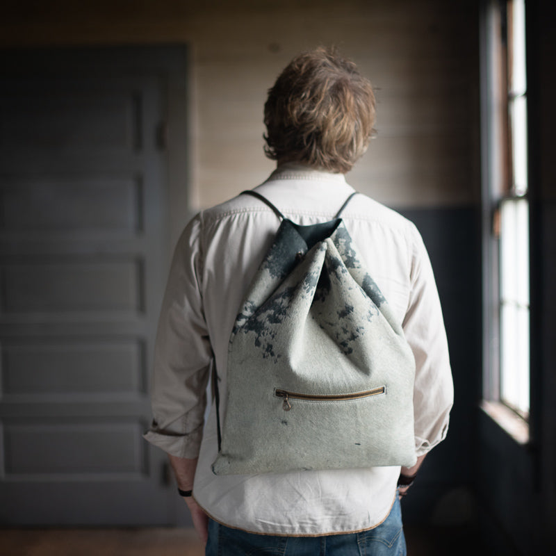 Rambler Pack | Slate Distressed Hair Hide