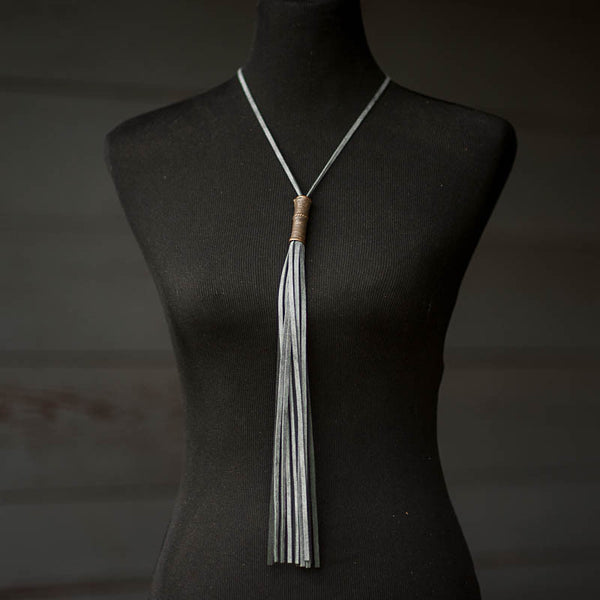 Thunder Mosaic Fringe Necklace - Stash Co