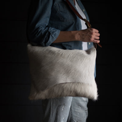 Messenger | Snow Hair Hide Messenger Stash - Stash Co
