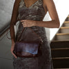 Baguette Crossbody | Oxblood Bison - Stash Co