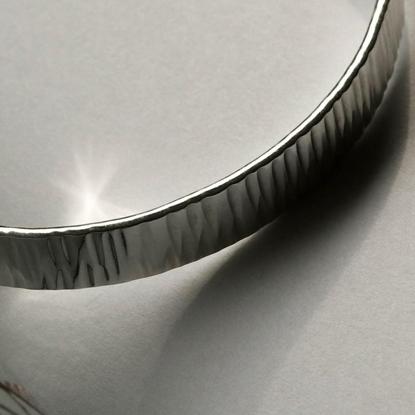 Hammered Texture Open Type Bangle