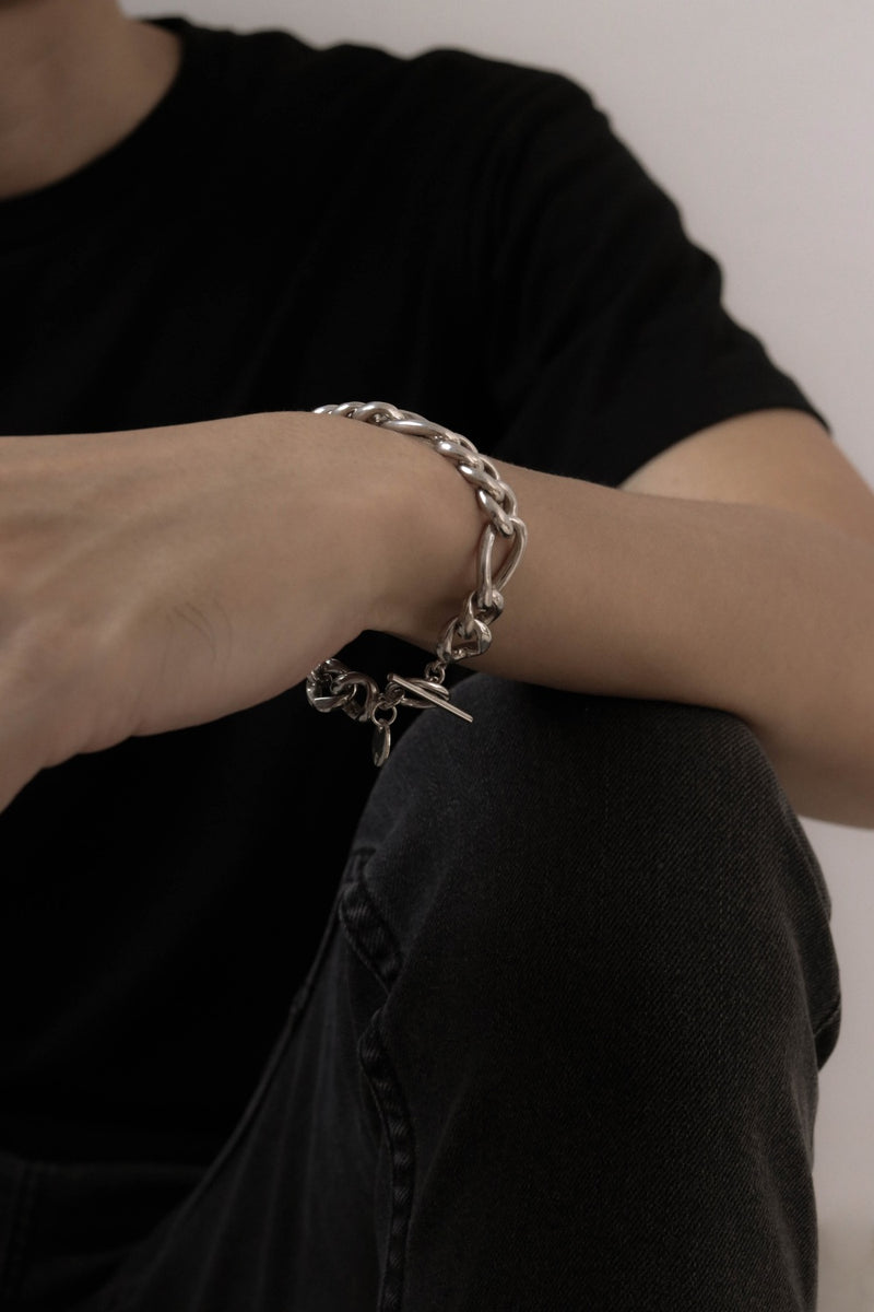 925 |Handcrafted| Figaro Chain Mens Bracelet