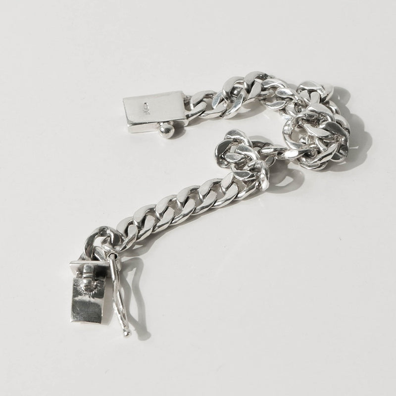 925 |Handcrafted| Flat Link Chain Bracelet