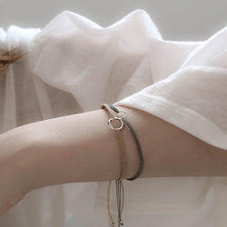 925 Handcrafted Diamond Cut Ring Wishing Bracelet | A KIND OOOF