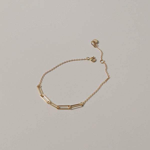925 |Handcrafted| Duo Cable Chain Bracelet, Gold Vermeil