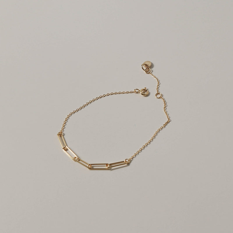 925 |Handcrafted| Duo Cable Chain Bracelet, 14K Gold Vermeil