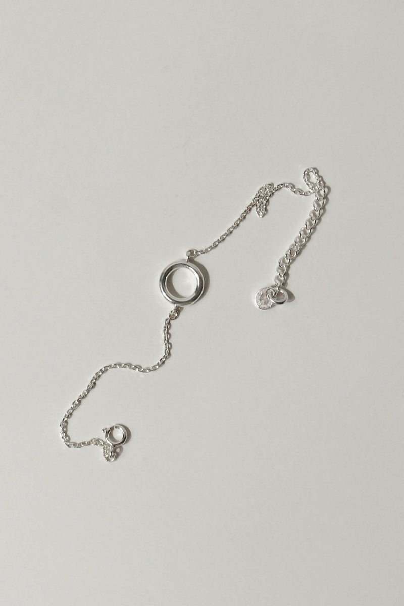 925 |Handcrafted| Silver Circle Bracelet