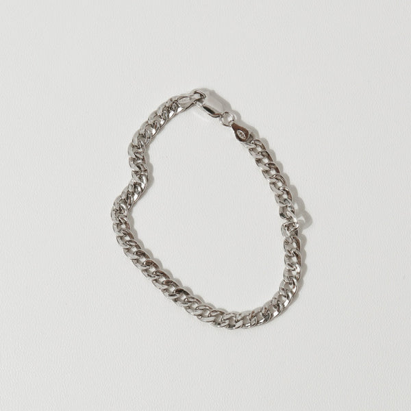 925 |Italy| Curb Chain Bracelet <br><font>Lightweight</font>