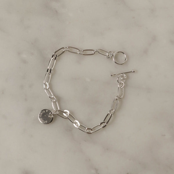 925 Elegant Chain Toggle Bracelet
