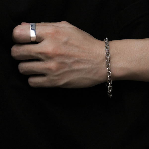 925 |Handcrafted| Cable Chain Mens Bracelet