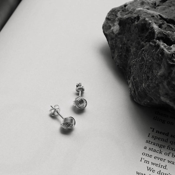 925 |Handcrafted| Love Knot Stud Earrings