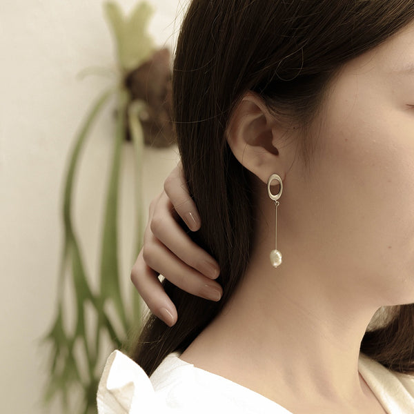 Drop Earrings with Freshwater Pearl